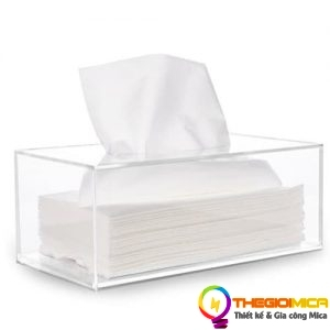 Hộp Mica đựng khăn giấy